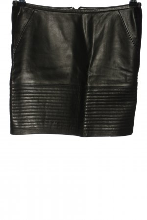 Sandro Jupe en cuir noir style extravagant