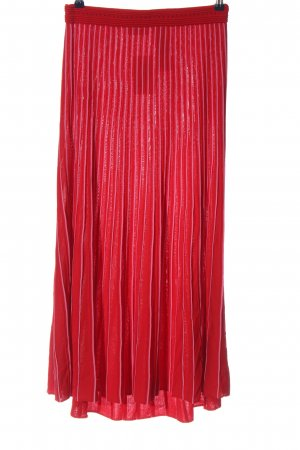 Sandro Maxi Skirt red-pink striped pattern casual look