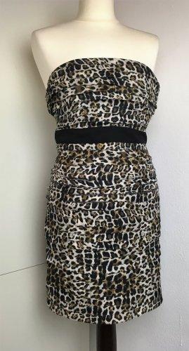 * SANDRO * NEU !   Mini Corsagen Kleid Leoprpint Baumwolle Gr 34