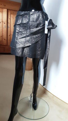 Sandro Paris Broomstick Skirt black-silver-colored
