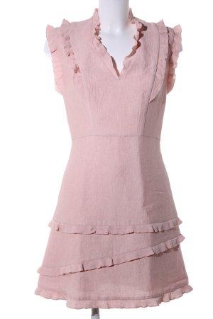 Sandro Paris A-Linien Kleid pink Business-Look