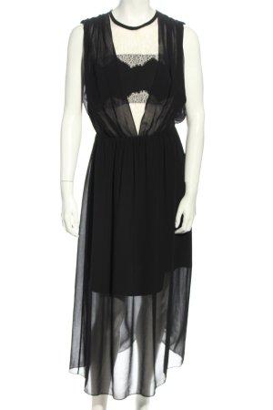 Sandro Paris Abendkleid schwarz Webmuster Elegant