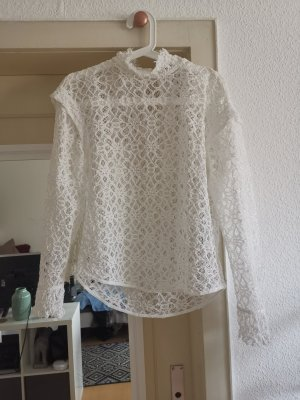 Sandro Paris Kanten blouse wit