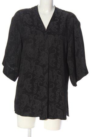 Sandro Paris Giacca a blusa nero stampa integrale stile casual