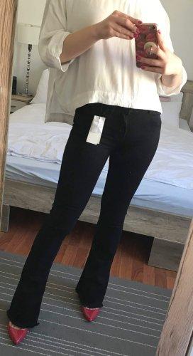 Sandro Paris Bootcut Jeans Gr. 34 XS schwarz Hose Denim NEU mit Etikett NP 165€