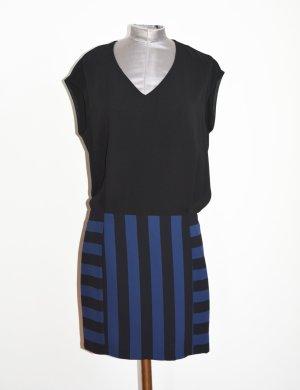 Sandro Paris Combo Kleid mit gestreiftem Rock Gr. 1
