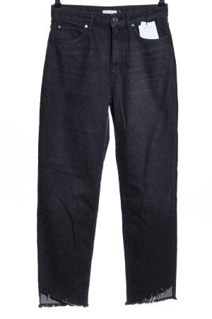 Sandro Paris Hoge taille jeans zwart casual uitstraling