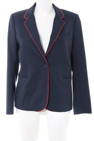 Sandro Paris Jerseyblazer blau-rot Punktemuster Business-Look