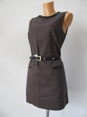SANDRO Paris Kleid Gr. 3  dt. Gr. 36/38 mit Leder Einfassungen (ohne Gürtel)