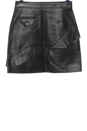 Sandro Paris Faux Leather Skirt black casual look