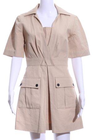 Sandro Paris Kurzarmkleid beige klassischer Stil
