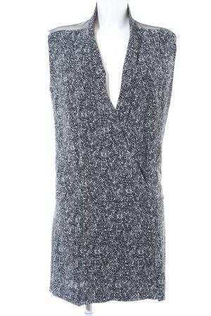 Sandro Paris Kurzarmkleid schwarz-wollweiß Punktemuster Elegant