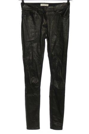Sandro Paris Skórzane spodnie czarny W stylu casual