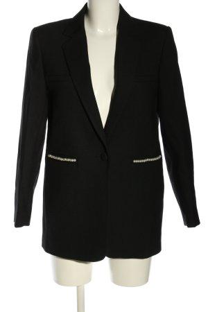 Sandro Paris Long-Blazer schwarz Business-Look