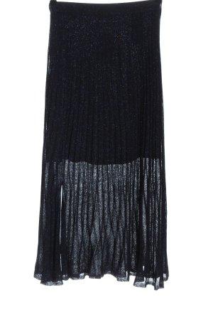 Sandro Paris Maxirock schwarz-blau meliert Elegant