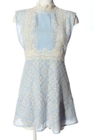 Sandro Paris Minikleid blau-weiß Elegant