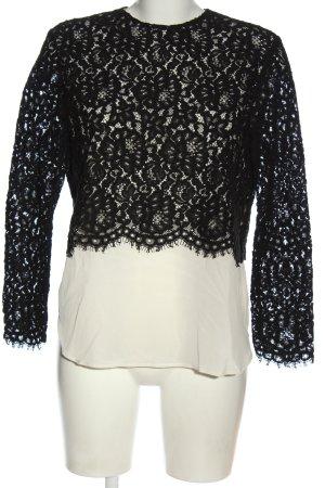 Sandro Paris Blusa in merletto nero-bianco elegante