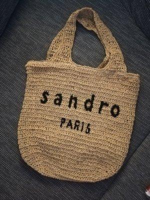 Sandro Paris Torba shopper czarny-beżowy