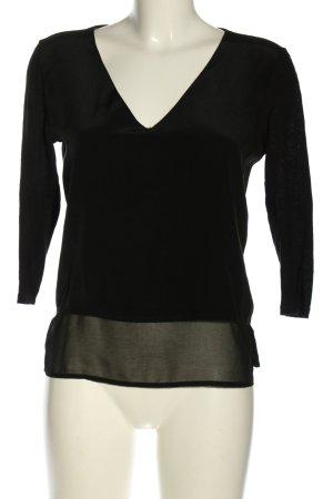 Sandro Paris V-Ausschnitt-Shirt schwarz Business-Look