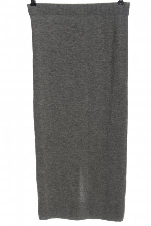 Sandro Paris Wool Skirt light grey flecked casual look