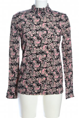 Sandro Turtleneck Shirt abstract pattern casual look