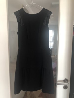 Sandro Rsonner Ruffle Dress Schwaz Kleid Size 1 DE 34-36