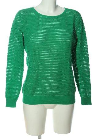 Sandro Jersey de cuello redondo verde look casual
