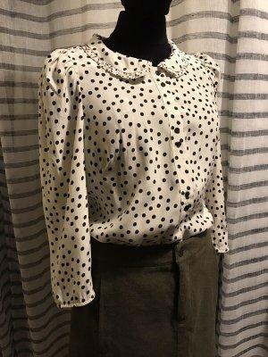 Sandro Paris Zijden blouse zwart-wit Zijde