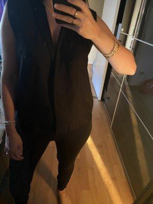 Sandro Shirt Bluse L 40 schwarz