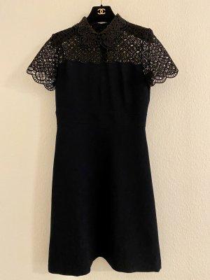 Sandro Skater-Kleid mit Perlen und Spitze