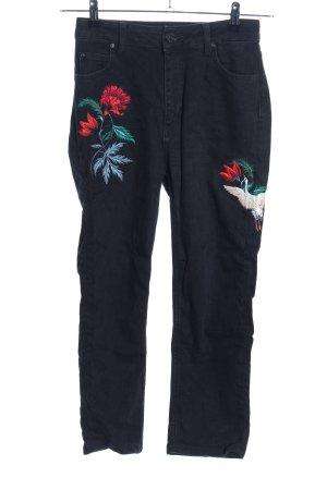 Sandro Slim Jeans Motivdruck Casual-Look