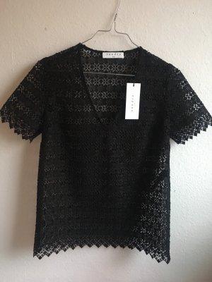 Sandro Camisa de malla negro