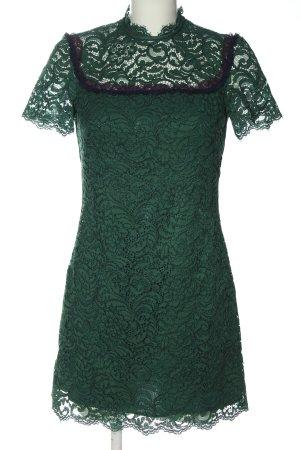 Sandro Vestido de encaje verde elegante