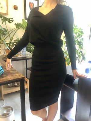 Sandro Vestido de lana negro