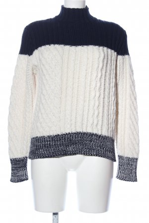 Sandro Strickpullover creme-blau meliert Casual-Look