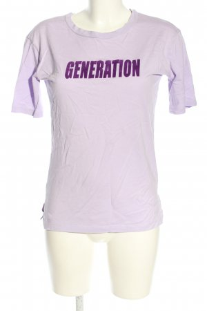 Sandro T-Shirt lila Motivdruck Casual-Look