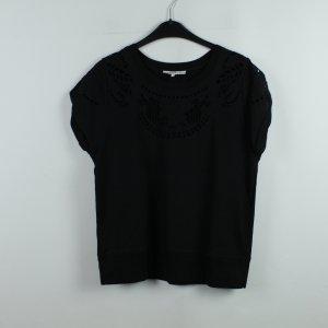 SANDRO T-Shirt Gr. 34 schwarz gemustert (20/01/200)