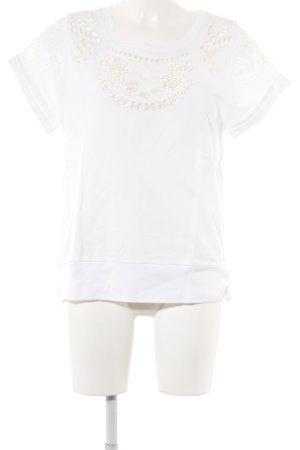 Sandro T-Shirt weiß-wollweiß Casual-Look