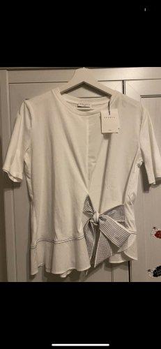 Sandro T-shirt blanc-bleu