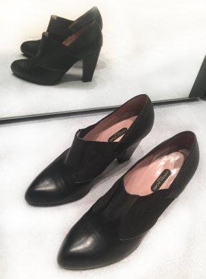 Sandro Vicari - schwarze Ankleboots , Leder, Stiefeletten, halbhohe Schuhe, 38 1/2