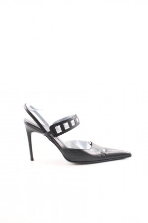 Sandro Vicari Spitz-Pumps schwarz Business-Look