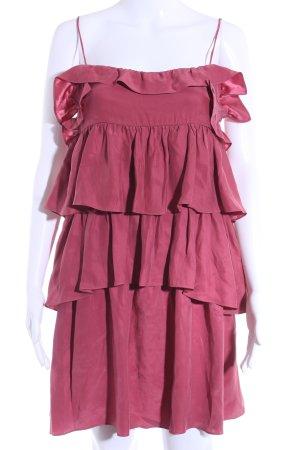 Sandro Vestido estilo flounce rojo frambuesa estilo fiesta