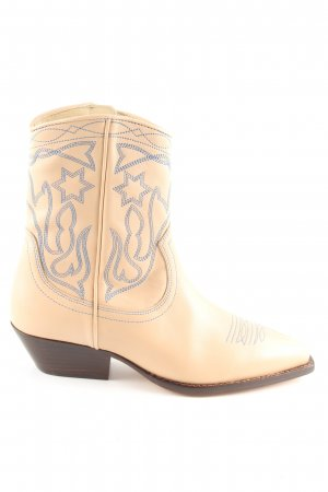 Sandro Western Boots cream casual look