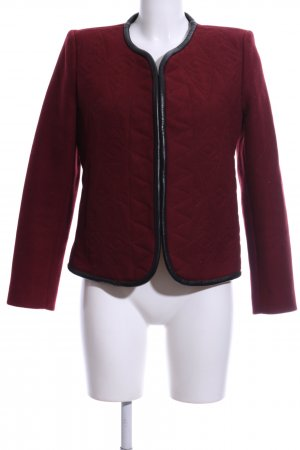 Sandro Wolljacke rot Steppmuster Business-Look