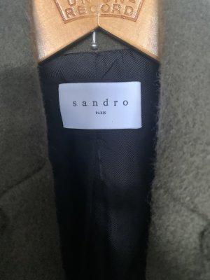 Sandro Paris Oversized Coat green grey-dark green