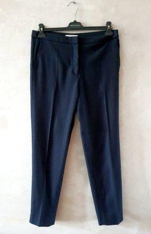Sandro Pantalone di lana argento-blu scuro