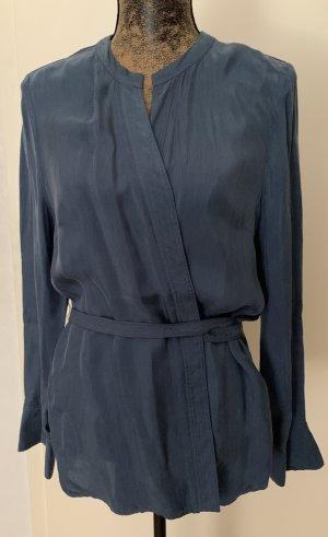 Sandro Paris Kopertowa bluzka stalowy niebieski Cupro