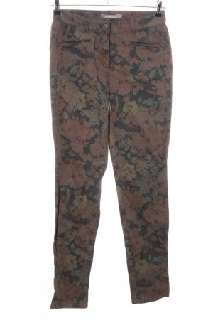 Sandwich Chinohose Allover-Druck Casual-Look