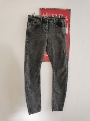 Sandwich Jeans vita bassa grigio scuro-grigio Cotone