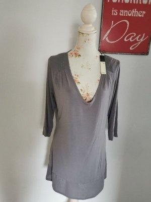 Sandwich Camicia lunga grigio chiaro Viscosa